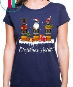 Christmas Spirit Black Velvet Canadian Whisky Shirt Funny Gift
