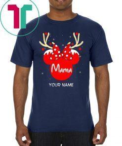 Custom Name Minnie Reindeer Mama Family Christmas 2020 t-shirt