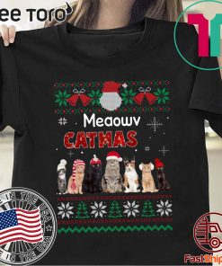 Meaowv Catmas Cat Ugly Christmas 2020 T-Shirt