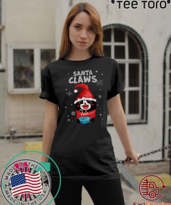 Santa Claws Black Cat Ugly Christmas Classic T-Shirt