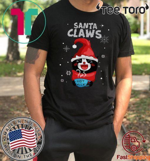 Santa Claws Black Cat Ugly Christmas Classic T-Shirt