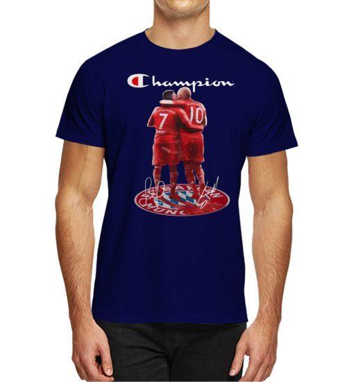 Champion Franck Ribery Arjen Robben Bayern Munich 2020 T-Shirt