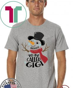 Blessed To Be Called Gigi Snowman Classic T-Shirt