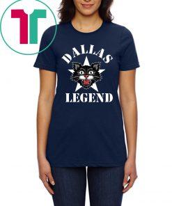 Black Cat Dallas Legend Football Tee Shirt