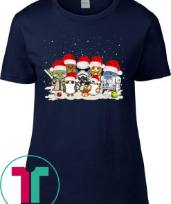 Star War Yoda Chewbacca Cartoon Chewbacca Trooper Christmas T-Shirts