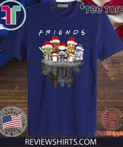 Star Wars Characters Water Reflection Friends Christmas Tee Shirt