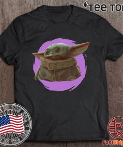 Star Wars Mandalorian Baby Yoda The Child Purple Ball Tee Shirt