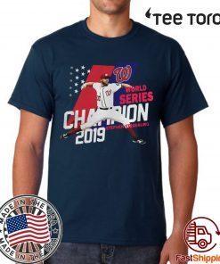Stephen Strasburg Washington Nationals world series champions 2019 American Flag t shirt
