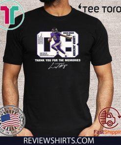 08 Lamar Jackson Thank You For The Memories 2020 T-Shirt