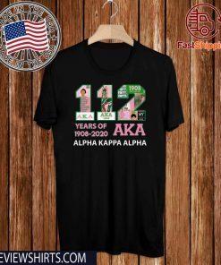 112 Years Of Aka Alpha Kappa Alpha 1908-2020 Limited Edition T-Shirt