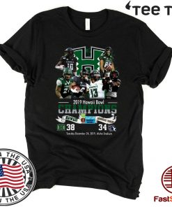 2019 Hawaii Bowl Champions Players Signatures For T-Shirt