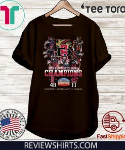 2019 New Mexico Bowl Champions Players Signatures Offcial T-Shirt
