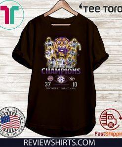2019 Sec Champions Lsu Tigers 97 Georgia Bulldogs 10 Offcial T-Shirt