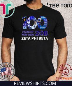 100 Years Of 1920 2020 Zeta Phi Beta Tee Shirts