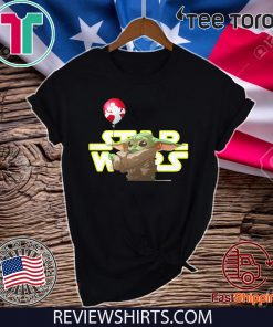 Star Wars Baby Yoda Hand Holding Balloon Mickey Mouse Offcial T Shirt