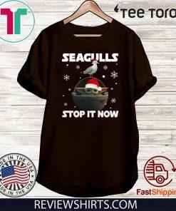 Star Wars Baby Yoda Seagulls Stop It Now Unisex T-Shirt