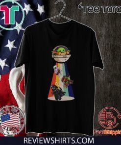 Star Wars Darth Vader Baby Yoda UFO Offcial T-Shirt