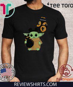 Star Wars Mickey Baby Yoda hug BB-8 balloon Offcial T-Shirt
