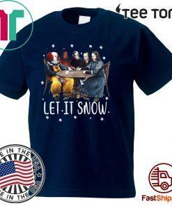 Stephen King Horror Friends Let It Snow 2020 T-Shirt