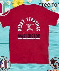 Stephen Strasburg Merry Strasmas T-Shirt