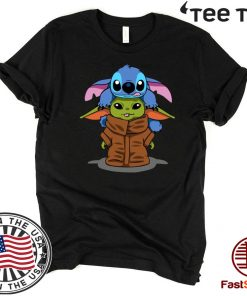 Stitch And Baby Yoda Offcial T-Shirt