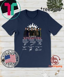 15 Years Of Supernatural 2005 2020 15 Seasons 327 Episodes Signatures For T-Shirt