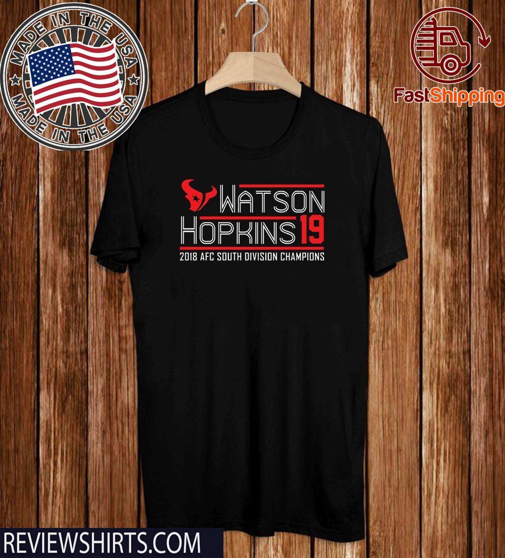 texans afc south championship shirts