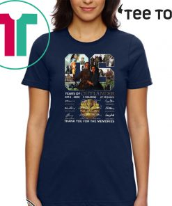 06 Years of Outlander 2014 -2020 Thank You For The Memories Official T-Shirt