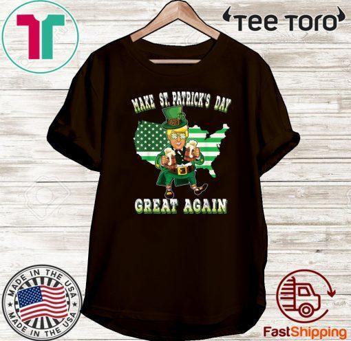 Make St Patricks Day Great Again Trump Leprechaun Official T-Shirt