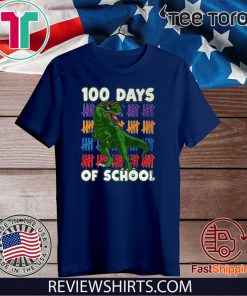 100 Days Of School 100th Day Dino 2020 T-Shirt