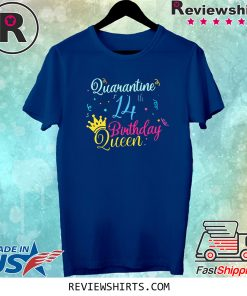 14th Birthday Quarantine Queen Crown Year Birthday Social Distancing T-Shirts