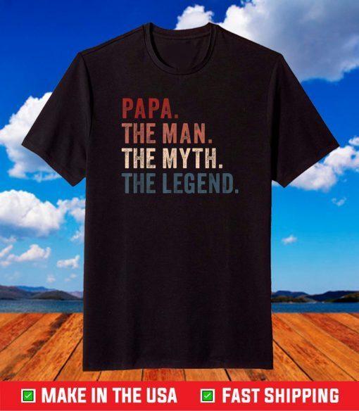 Papa Definition T-Shirt Like A Regular Grandpa Only Cooler T-Shirt