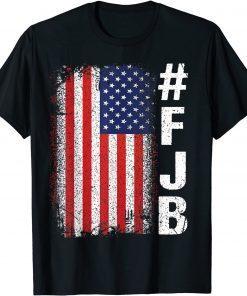 #FJB FJB Pro America US Distressed Flag F Biden Anti Biden T-Shirt